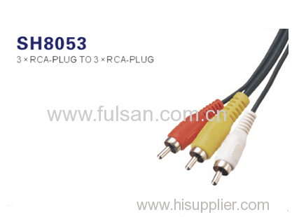 Wholesale 3 rca to 3rca audio cable