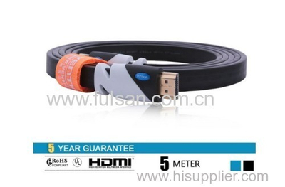 5m 2.0v High Speed Flexible HDMI Flat Cable for DVD and HDTV