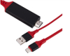 High Speed 1.8m Red HDMI To Type C Cable for Samsung