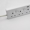 SASO Approved 4 Way Power Extension Cord Socket with Individual Switch for Uk
