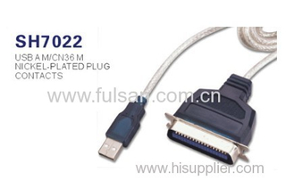 USB to 1284 Cable/USB to 36pin Print Cable/USB Printer Cable with 12Mbps USB High Speed