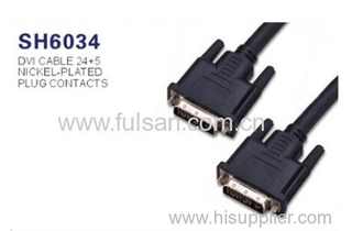 DVI 24+5 Male to Male cable gold plated