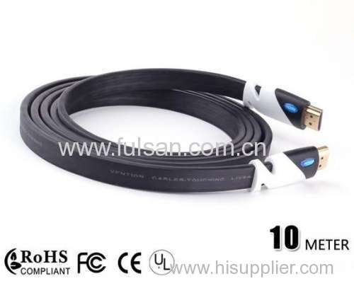 10m 1080P 1.4v HDMI Flat Cable for Laptop HDTV