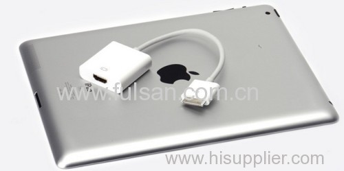 Dock Connector to HDMI 1080P TV Adapter Cable for iPhone 4 4s iPad 2 3