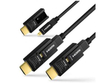 1080p high speed lossless transmission active optical fiber 4k 3d aoc hdmi cable 100m