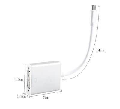 4K USB Type C USB 3.1 USB-C Type-c to DVI Cable Adapter Male to Female Dongle Converter for MacBook Huawei Matebook notebook