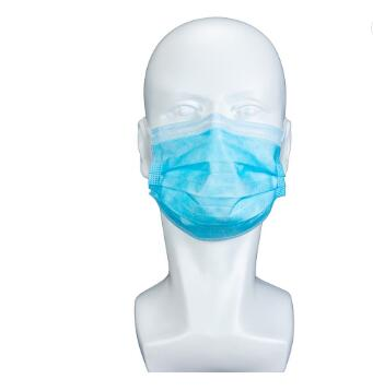 Europe market CE certificate Standard 3Ply Folding Blue Disposable Protective Face Mask With Earloop